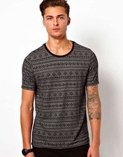 ASOS T-Shirt With All Over Jacquard