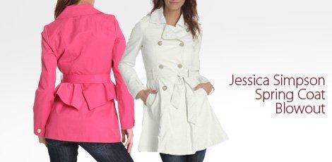 Jessica Simpson Spring Coat Blowout