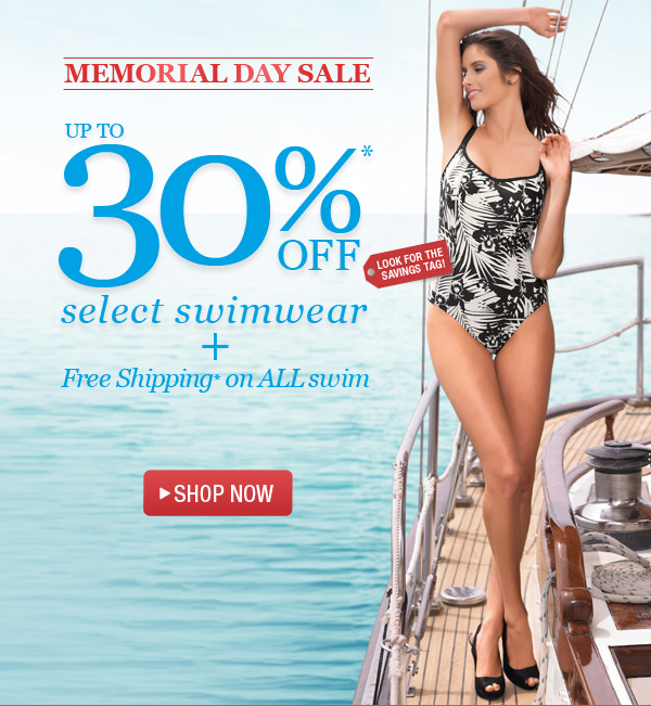 30% Off Swim + Free Shipping