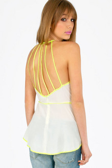 STRAPPY HI-LO PEPLUM TOP 26