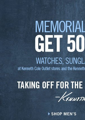 MEMORIAL DAY SALE GET 50% OFF WATCHES, SUNGLASSES AND MORE › SHOP MEN'S