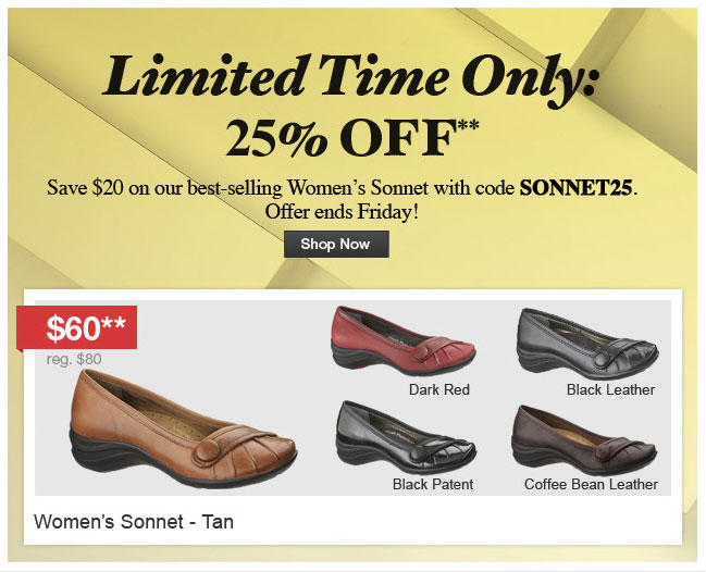 Limited Time Only:  25% Off
