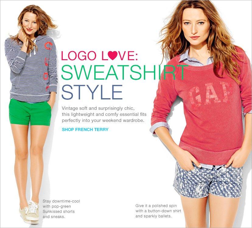 LOGO LOVE: SWEATSHIRT STYLE | SHOP FRENCH TERRY