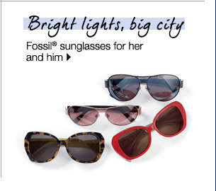Bright lights, big city Fossil® sunglasses for her.