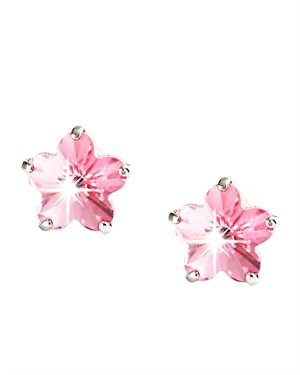 Destellos Made With Swarovski Flower Earrings Made In Italy