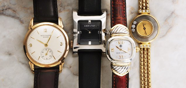 Designer Watches By Chopard, Patek Philippe, Hamilton And More