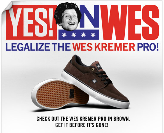 Yes on Wes - Legalize the Wes Kremer Pro