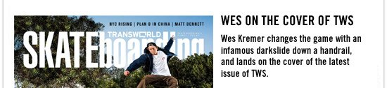 Wes on the cover of TWS
