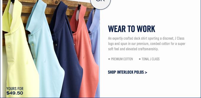 Shop Interlock Polos