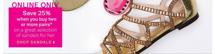 Online Only - Shop Sandals