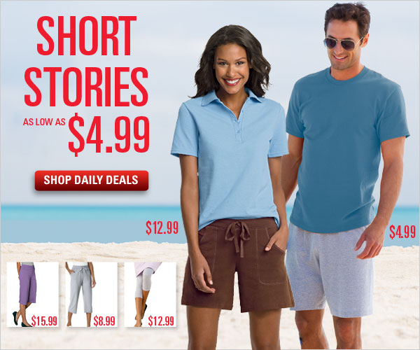Shorts as low as $4.99