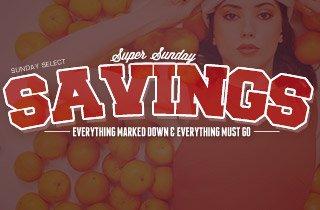 Sunday Night Savings
