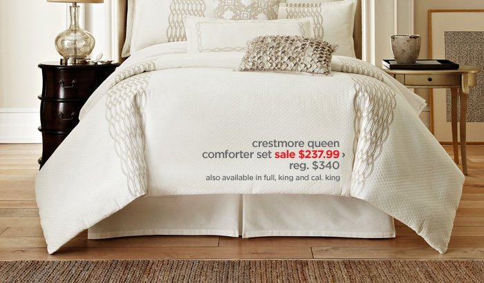 crestmore queen comforter set sale $237.99 › reg. $340 also  available in full, king and cal. king