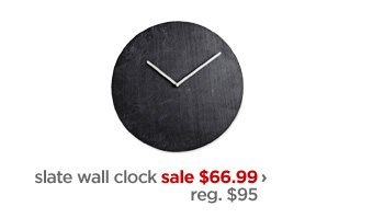 slate wall clock sale $66.99 › reg. $95
