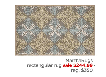 MarthaRugs rectangular rug sale $244.99 › reg. $350