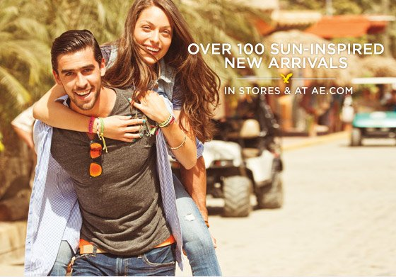 Over 100 Sun-Inspired New Arrivals | In Stores & At AE.com