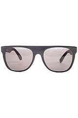 The Flat Top Sunglasses in Black & Briar