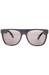 The Flat Top Sunglasses in Black & Briar