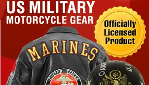 Shop Offically Licensed Military Motorcycle Gear