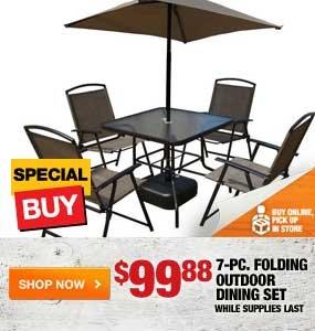 $99.88 7-pc. Folding Outdoor Dining Set