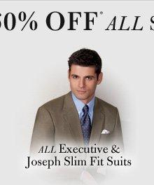 Executive & Joseph Slim Fit Suits
