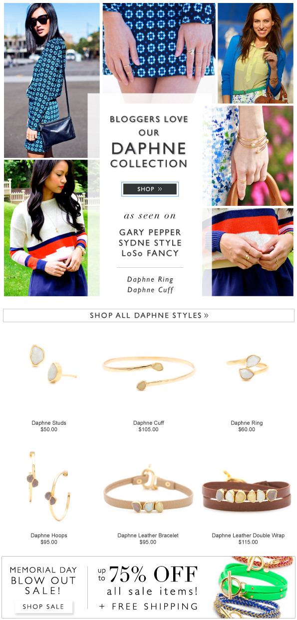 Bloggers Love Our Daphne Collecton