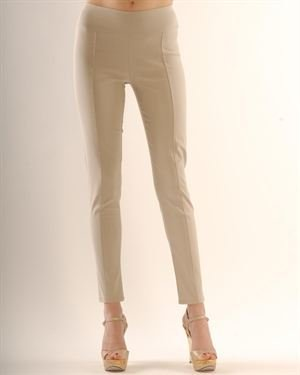 Silvana Cirri Stitched Solid Color Skinny Leg Pants Made In Italy