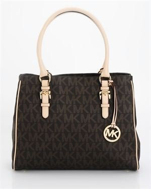 Michael Kors Jet Set Signature Medium Work Tote