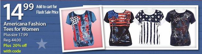 $14.99 Americana Fashion Tees for Women