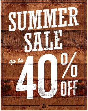 SUMMER SALE | up to 40% OFF