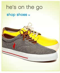 He's on the go. Shop shoes.