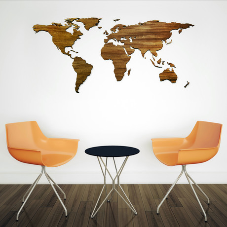 Exotic Hardwood World Map