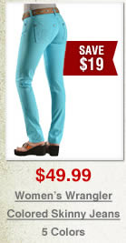 Wrangler Colored Skinny Jeans on Sale