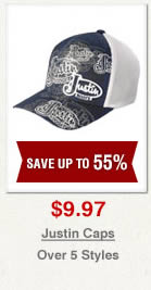 Justin Caps on Sale