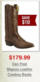 Dan Post Mignon Leather Cowboy Boots on Sale