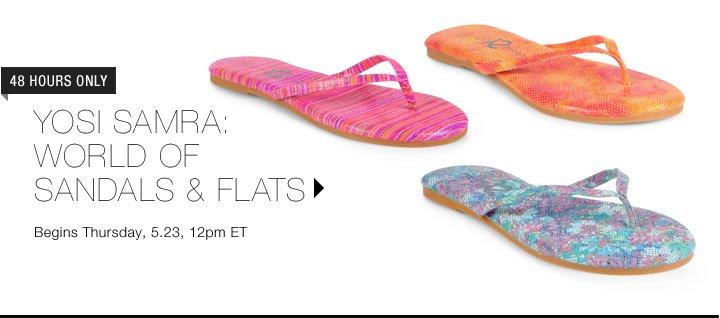 Yosi Samra: World of Sandals & Flats...Shop Now