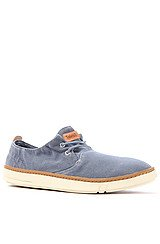 The Earthkeepers Hookset Handcrafted Fabric Oxford Sneaker in Blue Canvas
