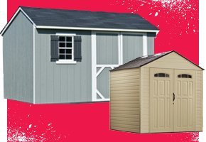 In-Stock Vinyl and Wood Sheds