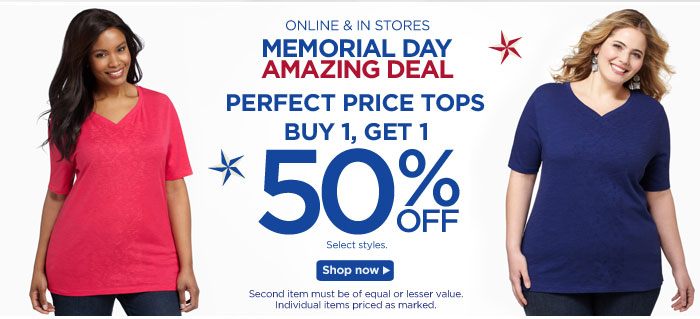 50% Off Perfect Price Tops