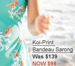 Koi-Print  Bandeau Sarong Was $139 NOW $98