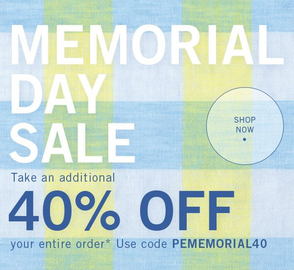 Memorial Day Sale - Take 40% Off Your Entire Order