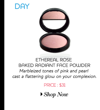 Ethereal rose bakes radiant face powder - Marbleized tones of pink and pearl cast a flattering glow on your complexion - Price:$31