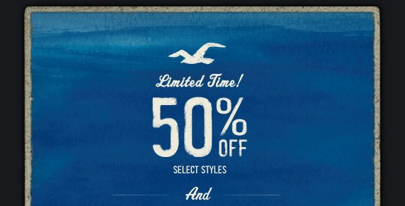 Limited Time! 50% OFF SELECT STYLES