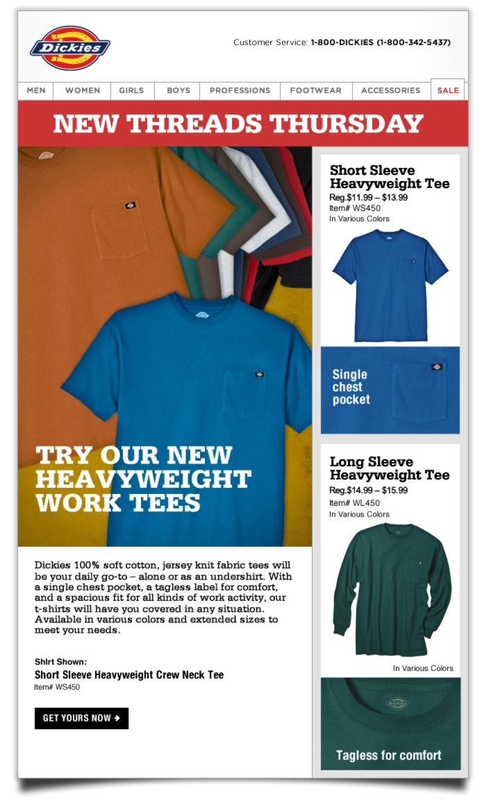 New Threads Thursday: More Colors Available in Heavyweight Tee