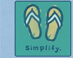 Women's Tee - Simplify Flip Flops