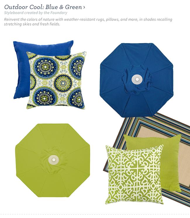 Shop Outdoor Cool: Blue & Green.