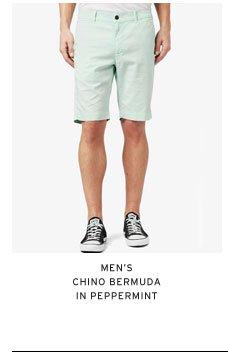 Men's Chino Bermuda in Peppermint