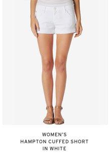 Women's Hampton Cuffed Short in White