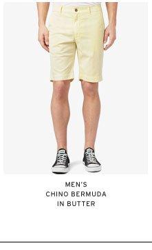 Men's Chino Bermuda in Butter