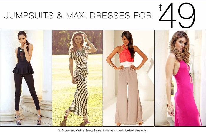 Shop our $49 Maxis & Jumpsuits